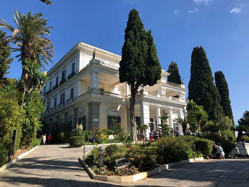 Car Rental In Gastouri, Achillion Palace Corfu By Eurorent Economy Car Hire
